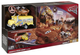 Mattel Cars 3 Fire Barrel Blast Playset, Rennstrecke mit Charkater-Fahrzeuge