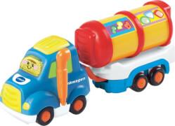 Vtech 80-164504 Tut Tut Baby Flitzer-Tankwagen und Anhänger, ab 12 Monate - 5 Jahre, mehrfarbig, Kunststoff