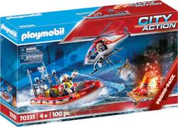 PLAYMOBIL 70335 Feuerwehreinsatz mit Heli und Boot