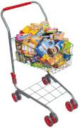Einkaufswagen (inkl. Lebensmittelpackungen), Metall, ab 3 Jahren