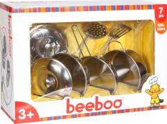 Beeboo Kitchen Edelstahltopf-Set, 7-teilig, Kaufläden & Zubehör, Packmaß ca.   31,01x21.5x10 cm, ab 3 Jahren