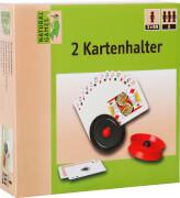 Natural Games Kartenhalter 2 Stück, ab 2 Spielern, ca. 15,5x16x4 cm, ab 3 Jahren