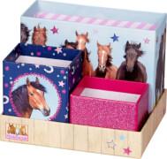 Schreibtisch-Organizer Pferdefreunde