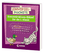 Loewe Lernspiel-Pockets - Konzentrations-Rätsel 1. Klasse