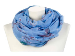 Loop Kirschblüten blau